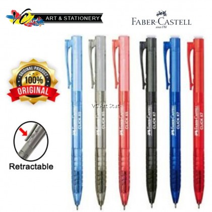 Faber-Castell Click X5/X7Ball Pen 0.5/0.7mm -Per Pcs