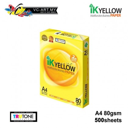 IK Yellow Paper A4 Size 70gsm 500s (Carton of 5)