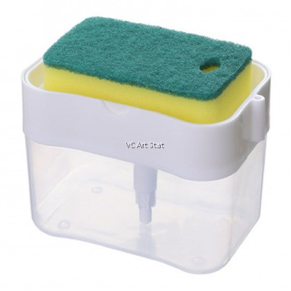 Soap Pump With Sponge Caddy 385ml