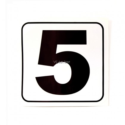 **Clearance** White PVE Number Sticker- 11cm x 11cm