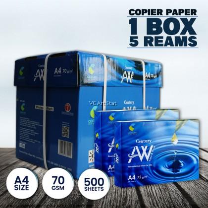 Century Pulp & Paper A4 Copier Paper 70 gsm/500's (5reams/box) Kertas A4